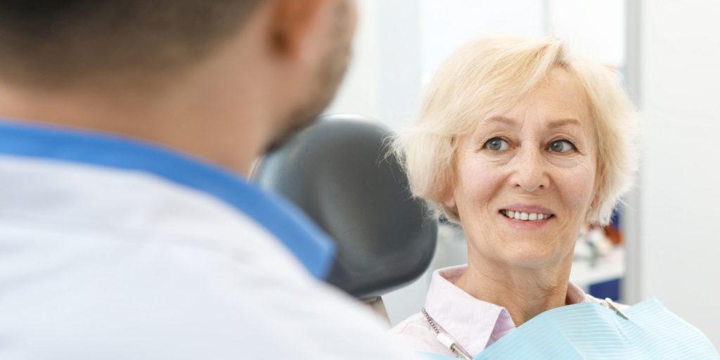 dental patient discussing sinus precautions