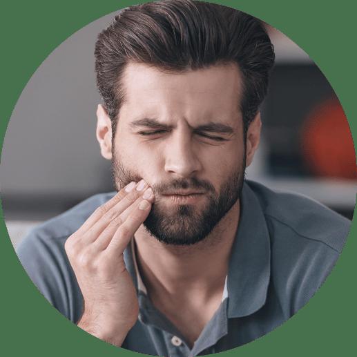 dental patient in need of emergency procedure