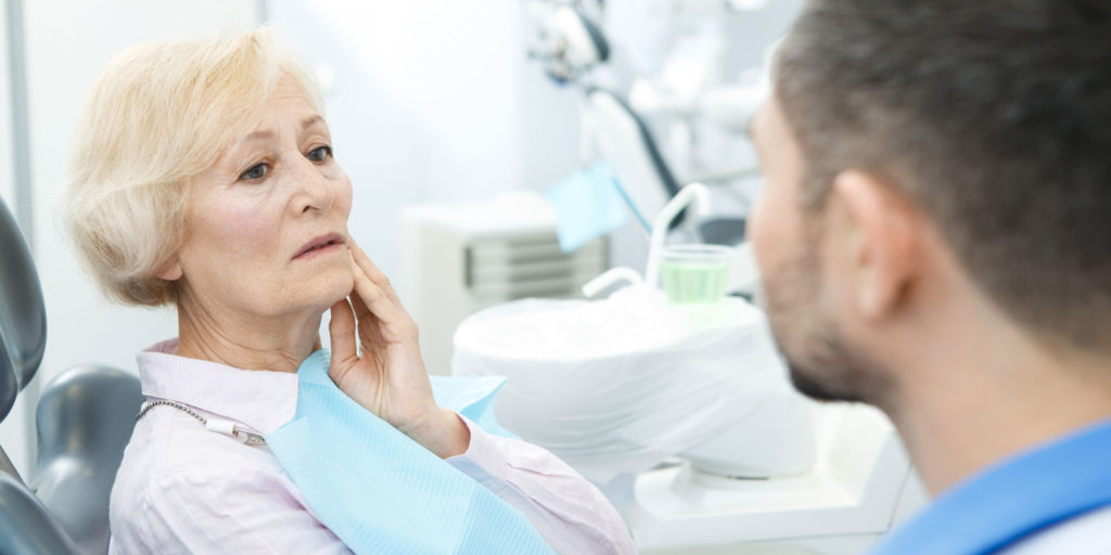 dental patient in need of oral pathology exam