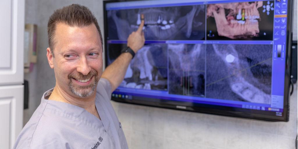 dr schenkman discussing dental implants procedure