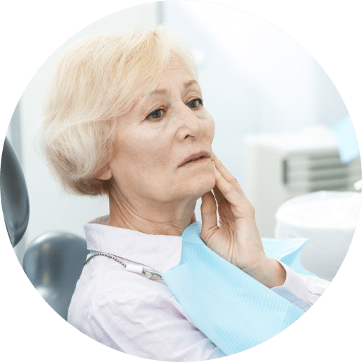 patient in need of dental implants